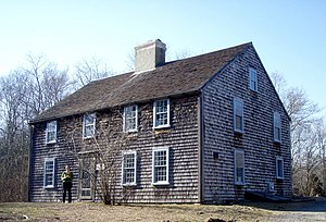 English: John Alden House in Duxbury, Massachu...