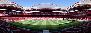 English: A panorama of the Estádio do Sport Li...