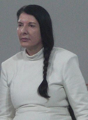 "English: Marina Abramovic performing ""The..."