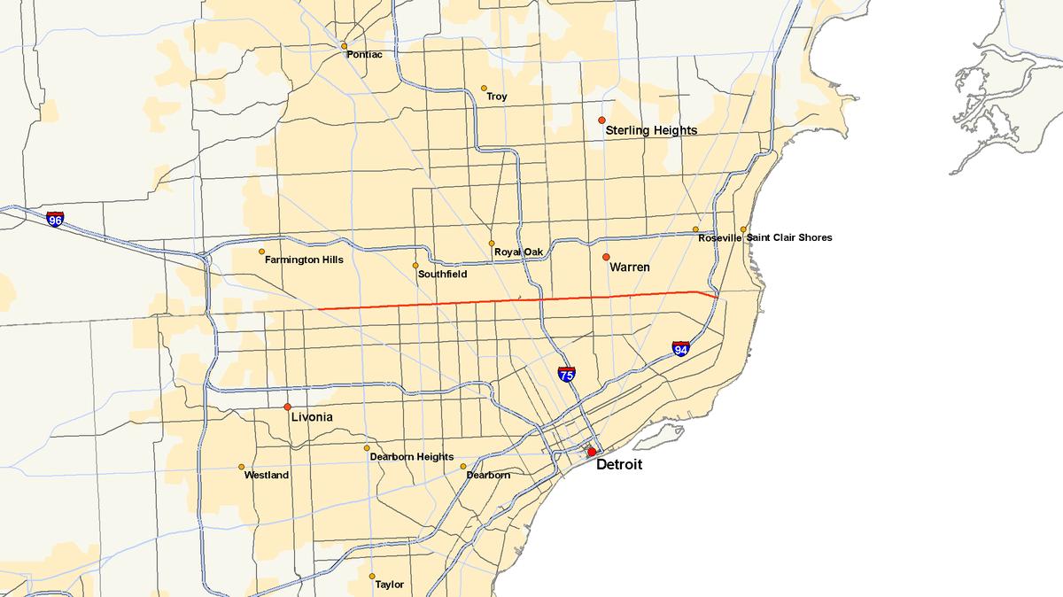 M 102 Michigan Highway Wikipedia