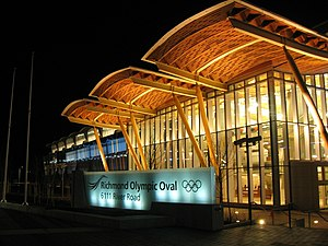 Front view the Richmond Olympic Oval, Richmond...