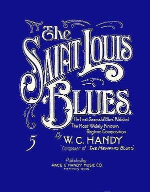 English: Sheet music cover of W. C. Handy's &q...