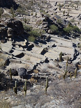 Vue des ruines de la Cité Sacrée