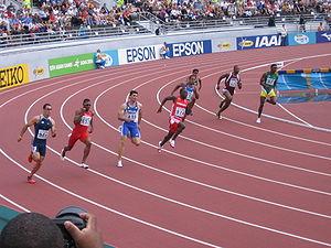 A 200 metres run at the 2005 Athletics World C...
