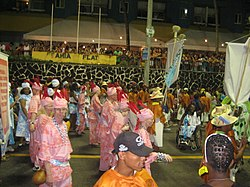 Afro-Brazilian albino pride parade during Bahia carnival