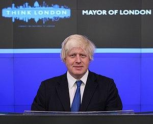 Mayor of London, Boris Johnson poses for a pho...
