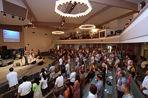 Description: A typical Sunday morning worship ...