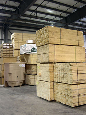Bulk material stored indoors at the Pleasant V...