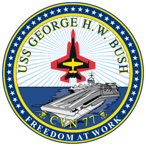 Insignia of the USS George H. W. Bush (CVN-77).