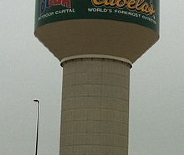 Water Tower At Buda Texas Next To Cabelas Store