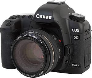 Canon EOS 5D Mark II camera, with Canon EF 50m...