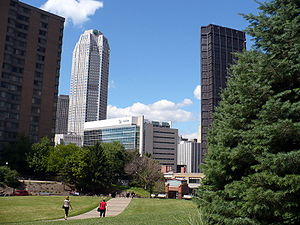 Duquesne University's view of the Pittsburgh s...