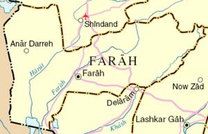 Map of Farah Province