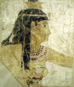 The painted image of the goddess Isis from a s...