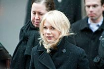American actress Michelle Williams leaving the...