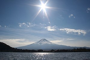 Mount Fuji -A view from the Lake Kawaguchiko o...