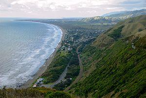Paekakariki Township & Beach, from Paekakariki...