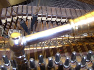 Piano tuner's most basic tools: tuning hammer ...