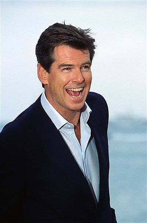 Brosnan Pierce at Cannes in 2002.