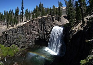 Rainbow fall at Devils Postpile National Monument