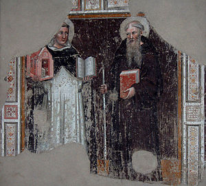 St Thomas Aquinas and Saint Benedict of Nursia...