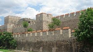Restored section of the Walls of Constantinople