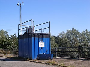 English: An Air Quality Monitoring Station abo...