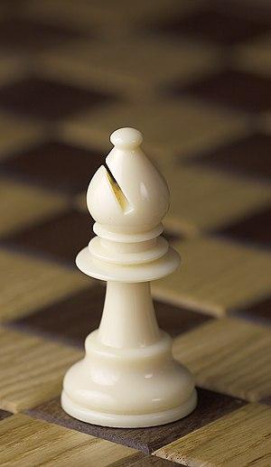 Chess piece - White bishop, Staunton design