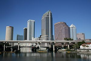 A view of Downtown Tampa, Florida.