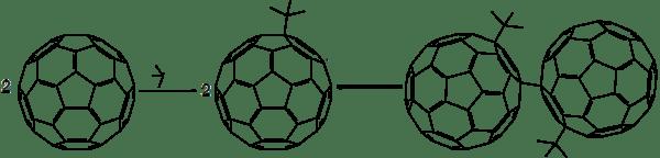 Free radical reaction of fullerene with tert-butyl radical.png