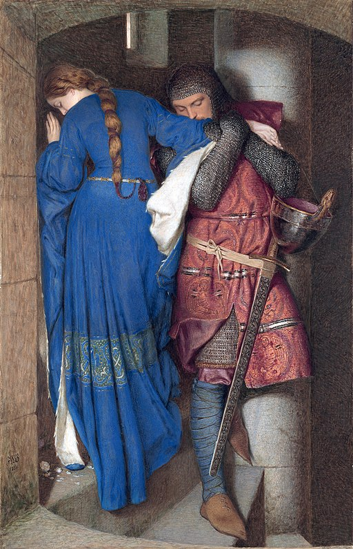 Hellelil and Hildebrand, the meeting on the turret stairs, by Frederic William Burton