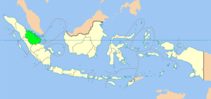 Location of Riau in Indonesia