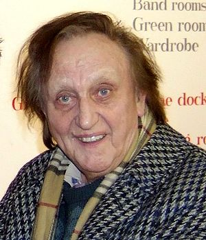 This image is of Ken Dodd at the stage door of...