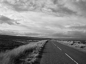 Open road, B6355 Big sky country, the road ove...