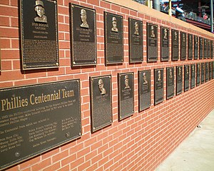 English: This is the Phillies Wall of Fame at ...