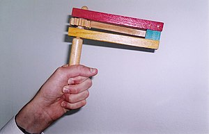 A Purim gragger, a kind of ratchet used in Jud...