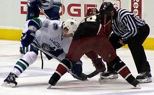 Vancouver Canucks forward Ryan Johnson takes a...