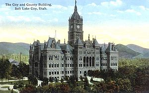 Salt Lake City and County Building circa 1923
