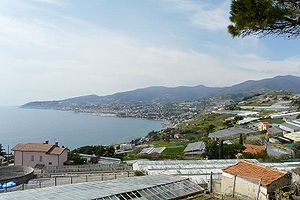 Panorama di Sanremo, Liguria, Italia
