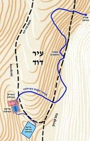 English: Hezekiah's Tunnel map עברית: מפת נקבת...