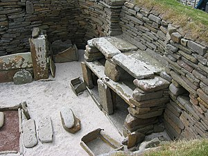 English: Skara Brae, Neolithic settlement, Ork...
