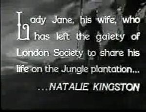First credit for Natalie Kingston as Lady Jane...