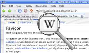 English: A screenshot of English Wikipedia in ...