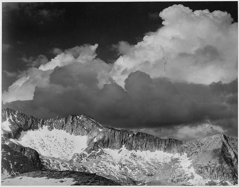 "File:""Clouds - White Pass, Kings River Canyon (Proposed as a national park),"" California, 1936., ca. 1936 - NARA - 519930.jpg"