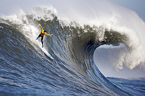 2010 Mavericks surfing competition. The image ...
