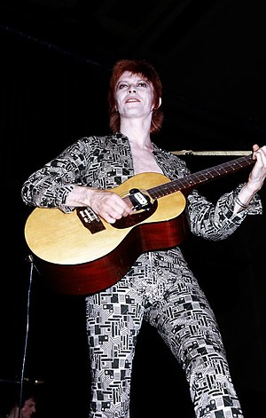 David Bowie in the early 1970s