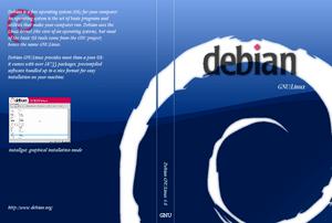 CD cover for Debian GNU/Linux version 4, code ...