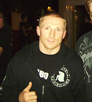 Dennis Siver after UFC 99 at Cologne, Germany.