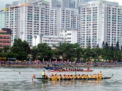English: Dragon boat racing in China. (Shing M...