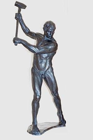 Man with sledge hammer, Gerhard Janensch 1920 ...